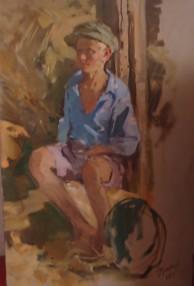Мальчик. 36х32. 60-е гг. Холст, масло.